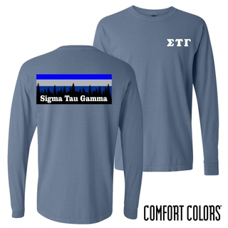 Sigma Tau Gamma Outdoor Long Sleeve T-shirt - Comfort Colors