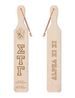 Sigma Tau Gamma Old School Wood Greek Paddle