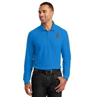 DISCOUNT-Sigma Tau Gamma Emblem Long Sleeve Polo