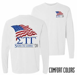 Sigma Tau Gamma Patriot Long Sleeve T-shirt - Comfort Colors