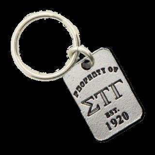 Sigma Tau Gamma Property of Tag Keychain - CLOSEOUT