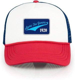 Sigma Tau Gamma Red, White & Blue Trucker Hat