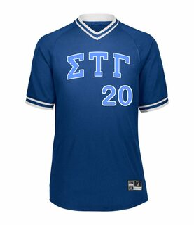 Sigma Tau Gamma Retro V-Neck Baseball Jersey