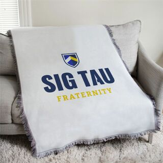 Sigma Tau Gamma Shield Afghan Blanket Throw