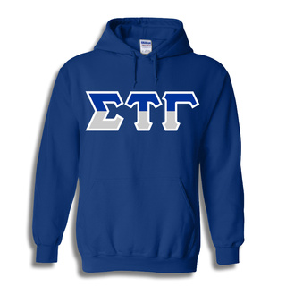 Sigma Tau Gamma Two Tone Greek Lettered Hooded Sweatshirt