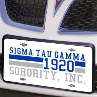 Sigma Tau Gamma Year License Plate Cover