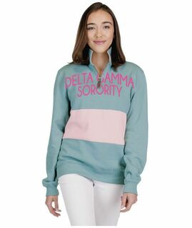Sorority 1/4 Zip Over Zipper Quad Pullover