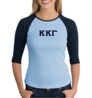 Sorority 3/4 Sleeve Raglan Tee