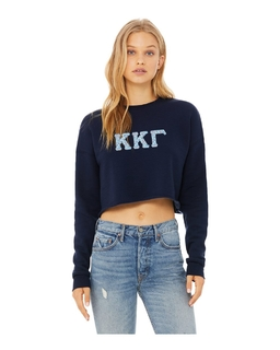 Sorority Bella + Canvas - Women's Cropped Crew Fleece