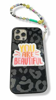 Sorority Cell Phone Beaded Strap With Charm