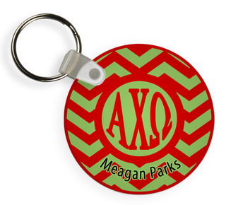 Sorority Chevron Keychains