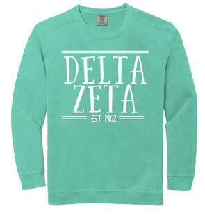 Sorority Comfort Colors Established Crewneck Sweatshirt
