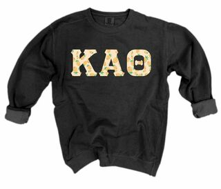 Sorority Comfort Colors Lettered Crewneck Sweatshirt