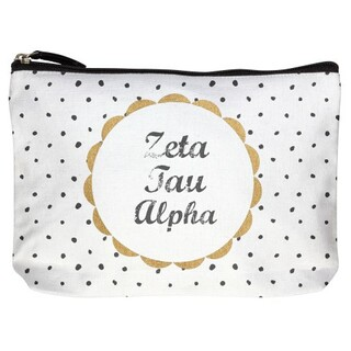 Sorority Cotton Canvas Makeup Bags