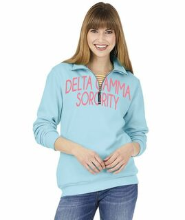Sorority Crosswind Over Zipper Quarter Zipper Sweatshirt