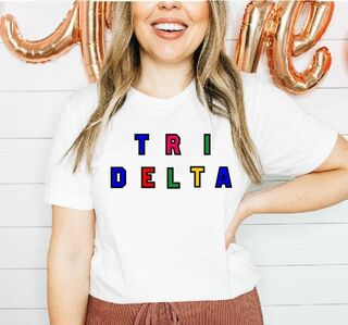Sorority Custom Colors Embroidered Nickname Tee