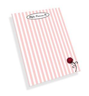Sorority Striped Mascot Notepads