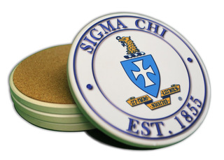 Sorority & Fraternity Sandstone Coasters (4)