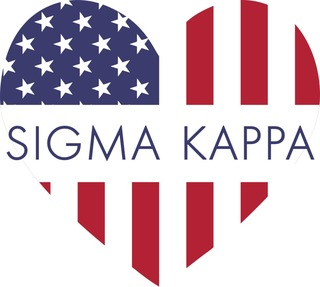 Sorority Heart Shaped USA Sticker