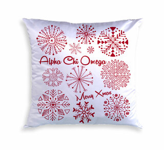 Sorority Holiday Snowflake Pillow (Cover Only)