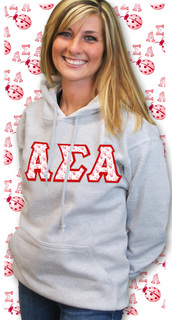 Sorority Mascot Twill Hoodie or Tee
