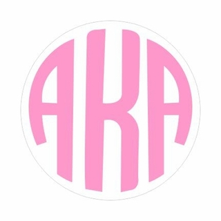 Sorority Monogram Decal Sticker