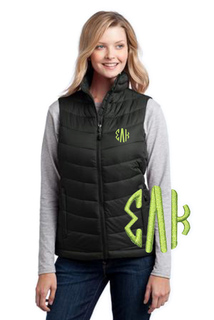 Sorority Monogram Mission Puffy Vest