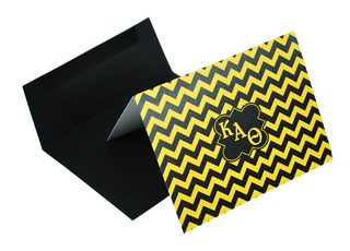 Sorority Chevron Note Cards w/ Envelopes (10)