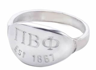 Pi Beta Phi Oval Tag Ring