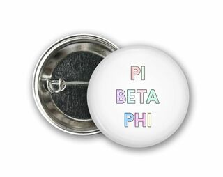 Sorority Pastel Letter Button
