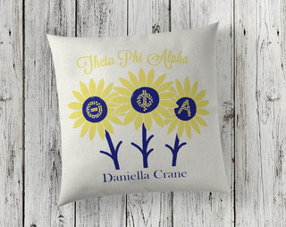 Sorority Linen Sunflower Pillows