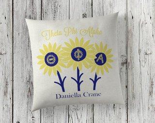 Sorority Linen Sunflower Pillows