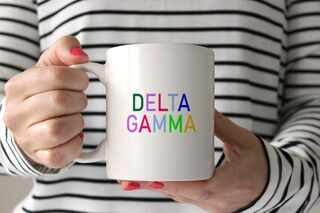 Sorority Rainbow Coffee Mug
