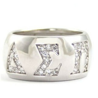 Sorority Silver paved CZ letters only