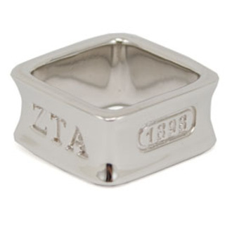 Sorority Square Sterling Silver Ring