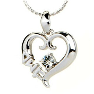 Sorority Sterling silver heart pendant