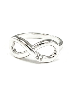 Sorority Sterling Silver Infinity Ring