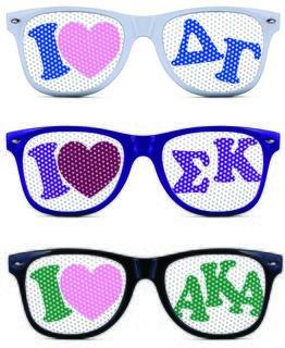 Sorority Sunglasses Fraternity Sunglasses