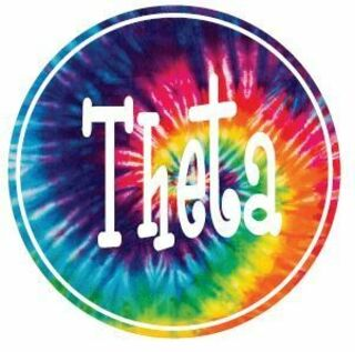 Sorority Tie-Dye Circle Sticker