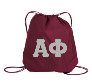Sorority Twill Cinch Bag