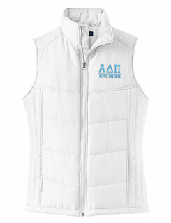 Sorority White Cloud Puff Vest