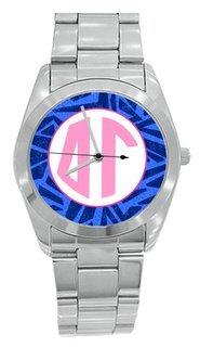 Sorority Zebra Steel Watch