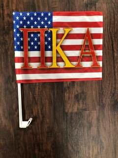 Super Savings - Pi Kappa Alpha Car Flag - AMERICAN FLAG COLORS
