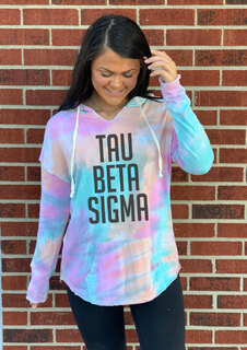 Tau Beta Sigma Angel Terry Rainbow Sherbet Nora Pullover