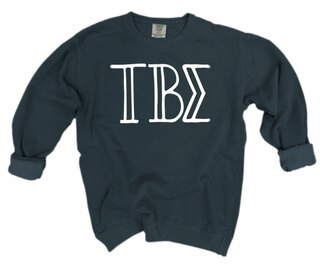 Tau Beta Sigma Comfort Colors Greek Crewneck Sweatshirt
