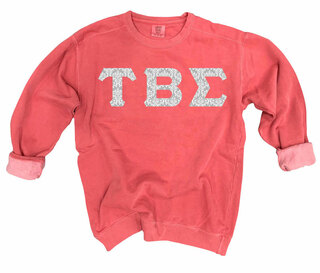 Tau Beta Sigma Comfort Colors Lettered Crewneck Sweatshirt