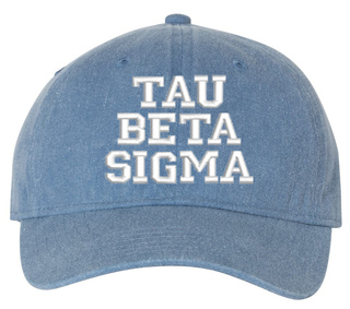 Tau Beta Sigma Comfort Colors Pigment Dyed Baseball Cap