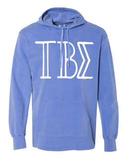 Tau Beta Sigma Comfort Colors - Terry Scuba Neck Greek Hooded Pullover