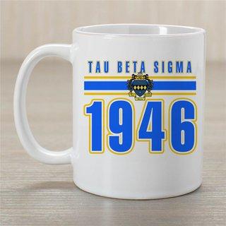 Tau Beta Sigma Established Year Coffee Mug - Personalized!