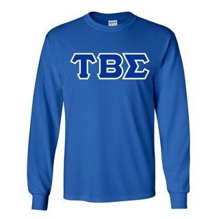 Tau Beta Sigma Sorority Crest - Shield Twill Letter Longsleeve Tee